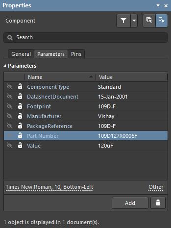 Параметры задают дополнительную информацию компоненту.