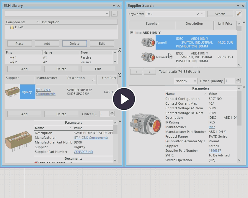 Linking to Supplier Data | Altium Designer 18 0 User Manual