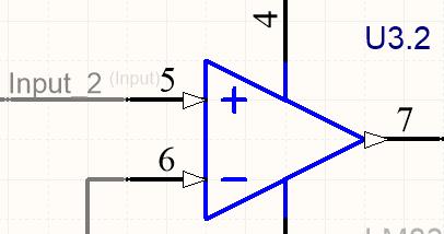 Поскольку метка цепи Input была использована на множестве листов, был включен параметр Append Sheet Numbers to Local Net для предотвращения появления ошибки Duplicate Nets.  Результат можно увидеть, щелкнув по вкладке скомпилированного листа (изображение справа). Обратите внимание, что имени цепи было добавлено _2.