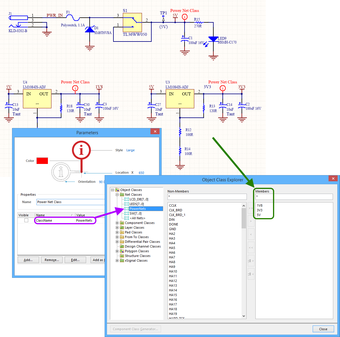 Specifying Design Requirements With Directives Online Circuit Is Modeled On A Schematic The Nodes Are Wires Between Example Generated Net Class Pcb Side