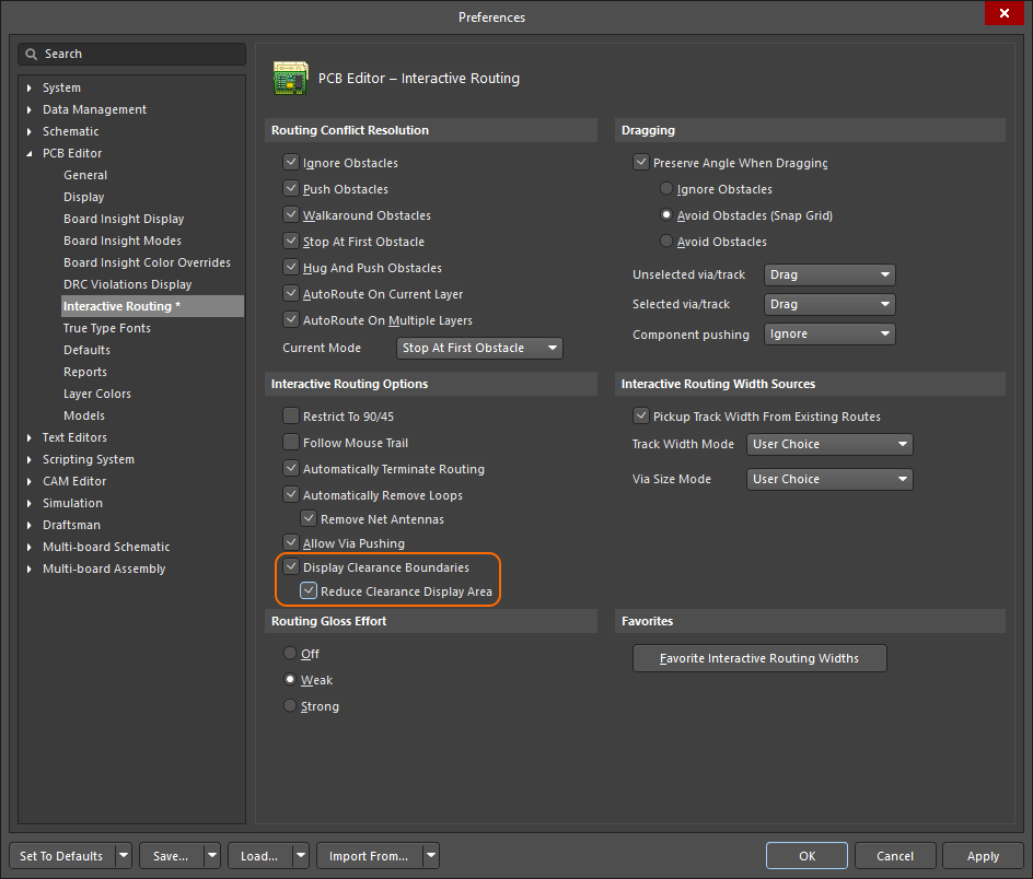 Enable the option in the Interactive Routing page of the Preferences dialog.