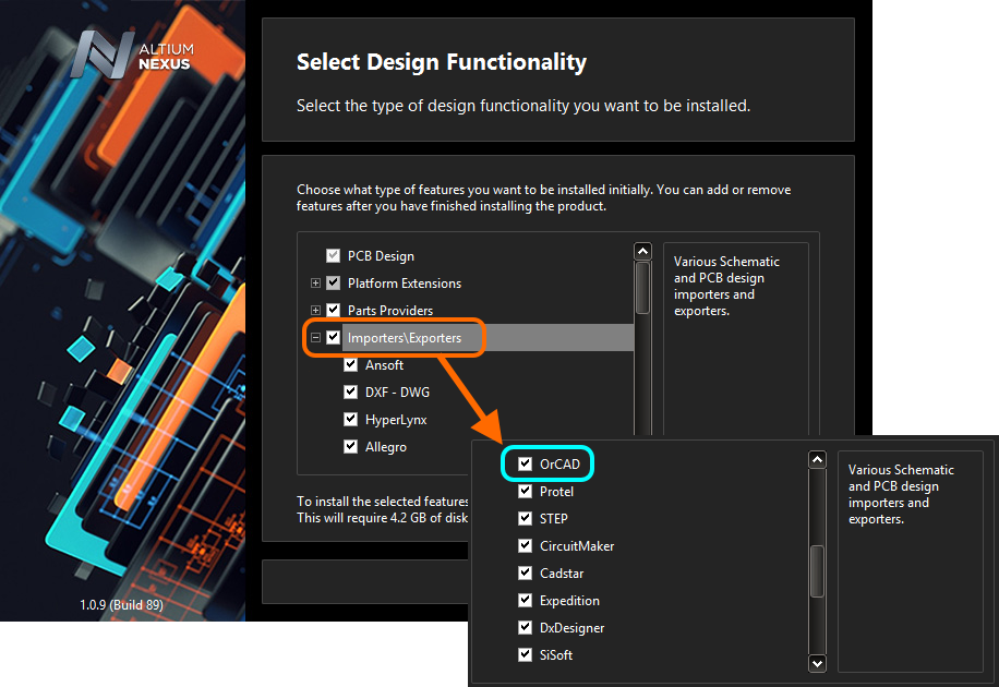 OrCAD Export | Online Documentation for Altium Products