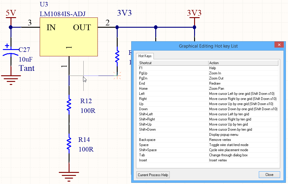 Shortcut Keys | Altium Designer 18 0 User Manual | Documentation