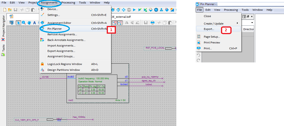 Select File » Export and save csv file for use in Altium Designer.
