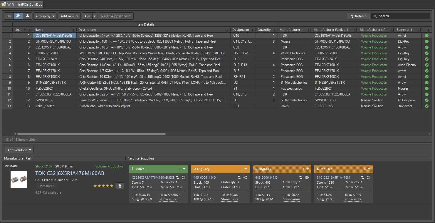 BOM Management with ActiveBOM | Altium Designer 18 1 User Manual