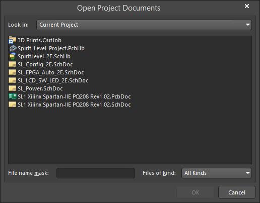 Open Project Documents   Altium Designer 18 1 User Manual