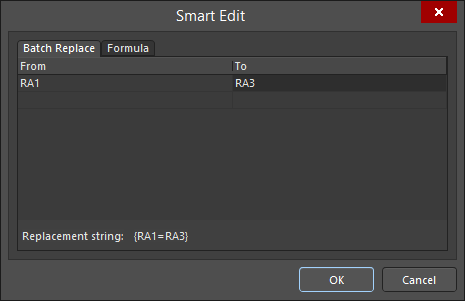 The Smart Edit dialog