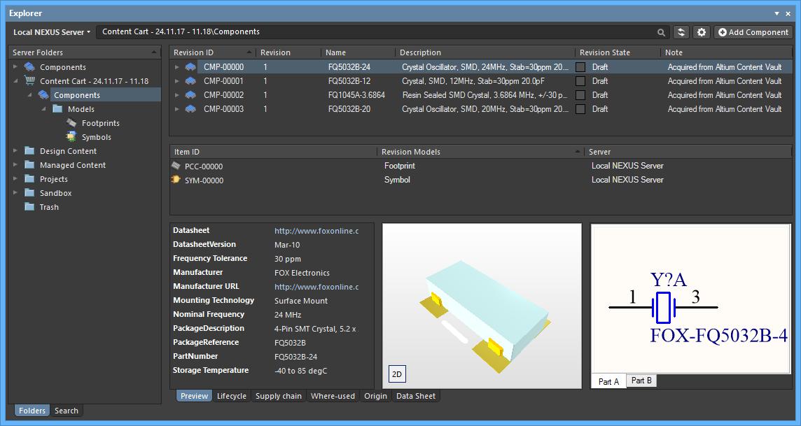 Altium NEXUS Server | Altium NEXUS 1 1 User Manual | Documentation