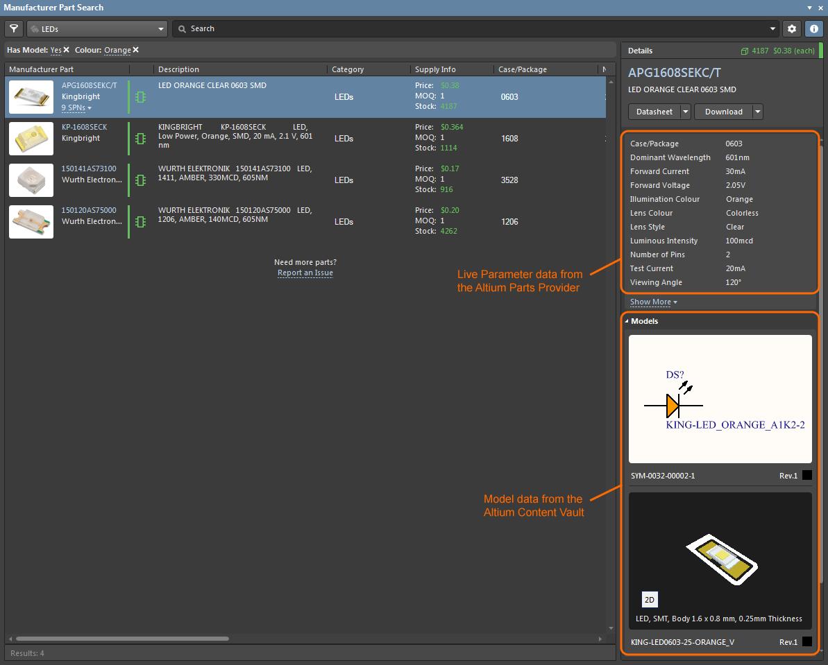 Manufacturer Part Search | Altium Designer 19 0 User Manual