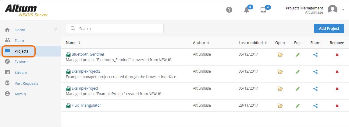 Browser-based Access & Management | Altium NEXUS 1 1 User