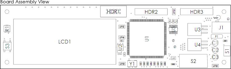 Размещенный вид Board Assembly View можно перемещать, масштабировать и отображать с различных сторон.