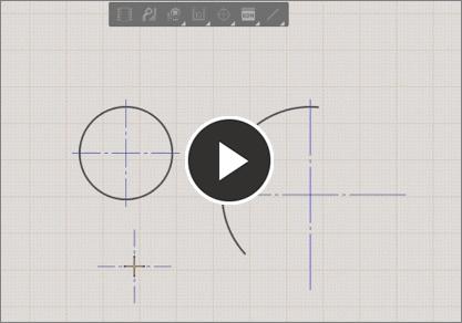 Demonstration video, center mark tool