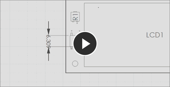Demonstration video, linear dimension tool