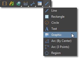 Draftsman Active Bar, Graphic Tools menu