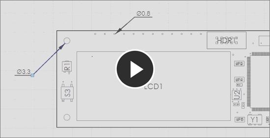 Demonstration video, radial dimension tool