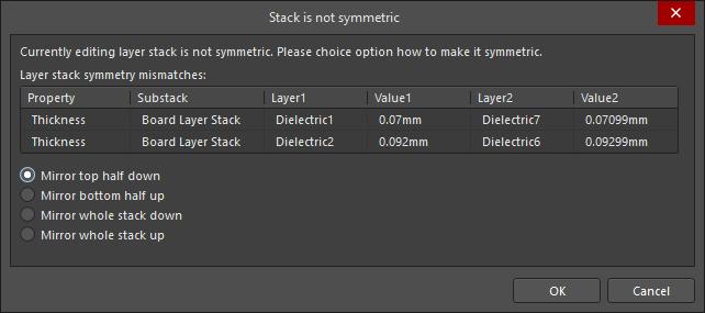 Defining the Layer Stack | Altium Designer 19 0 User Manual