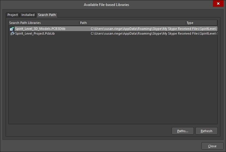 Available File-based Libraries | Altium Designer 19 0 User Manual