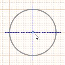 A selected Center Mark