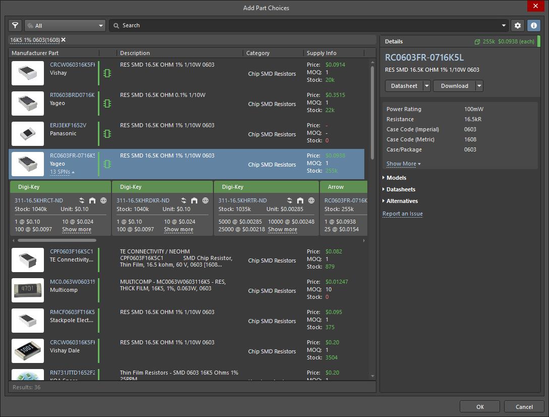 Add Part Choices | Altium Designer 19 0 User Manual | Documentation
