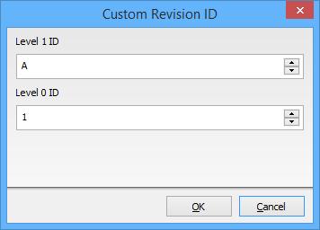 The Custom Revision ID dialog