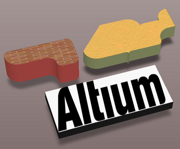 A texture or logo can be added to an extruded 3D Body object.