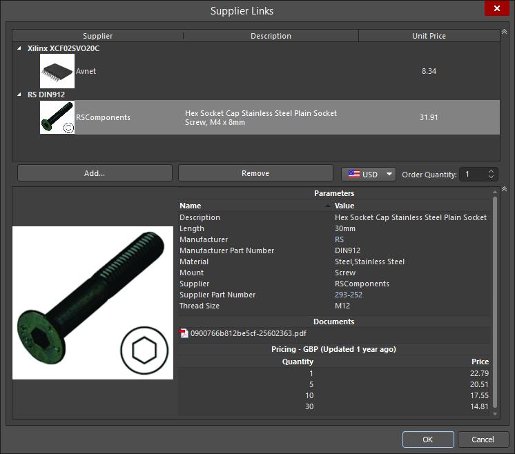 Supplier Links | Altium Designer 18 1 User Manual | Documentation