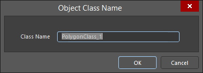 The Object Class Name dialog