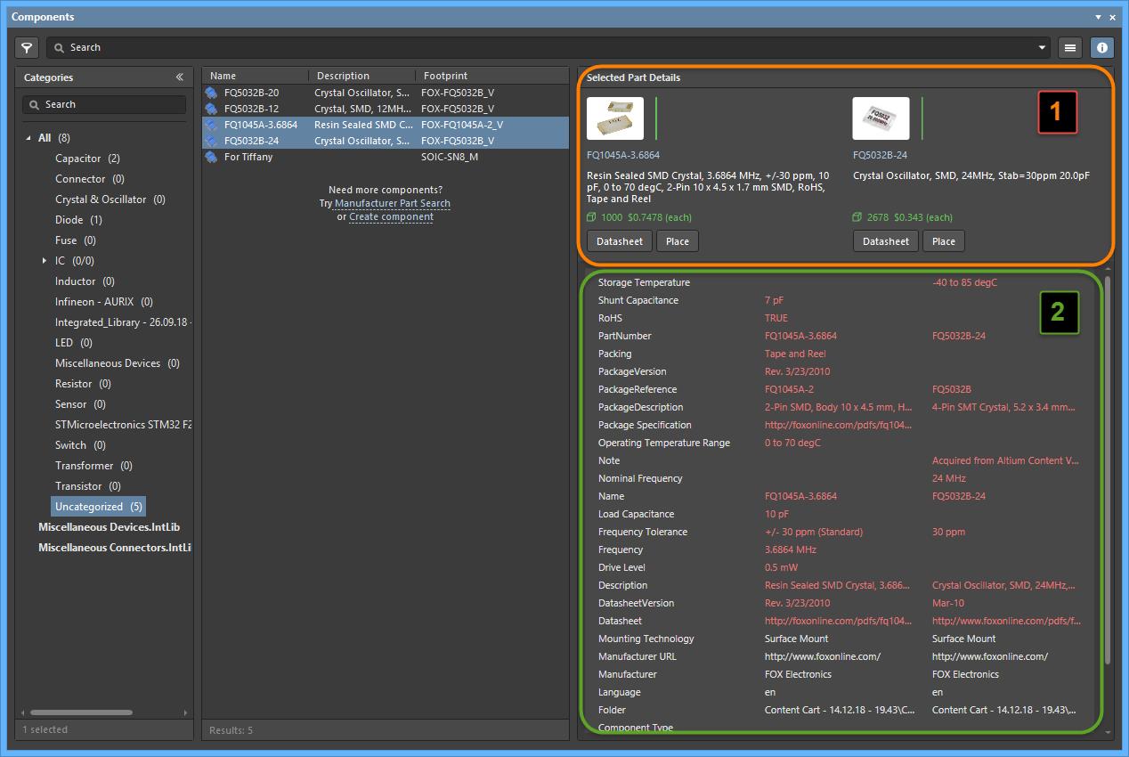 Components | Altium Designer 19 1 User Manual | Documentation