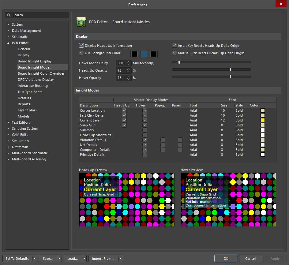 PCB Editor - Board Insight Modes | Altium Designer 19 1 User