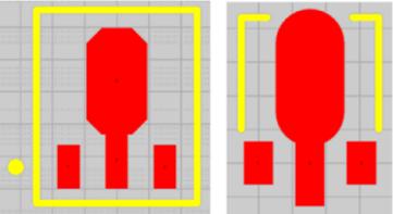 Создание контактных площадок нестандартной формы путем размещения множества объектов.