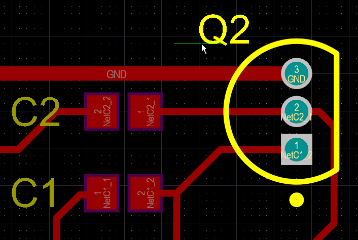 PCB editor, moving a component Designator to resolve a Silk to Silk clearance error