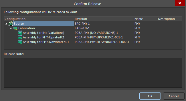 The Confirm Release dialog