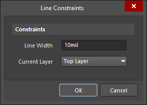 Line Constraints dialog