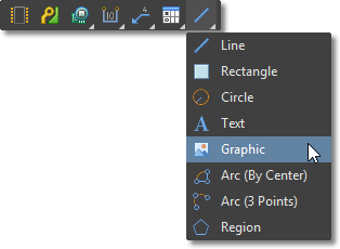 Draftsman Active Bar, Graphic Tools menu
