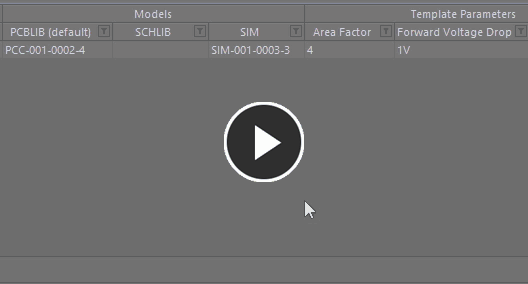 Use the dedicated model link selection pop-up to search, locate and assign the model required.