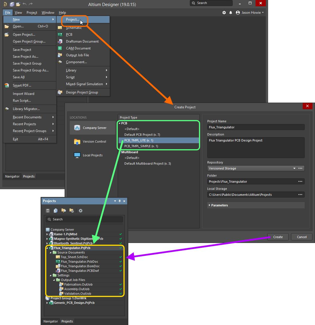 Managed Project Templates Altium Designer 19 0 User Manual Documentation