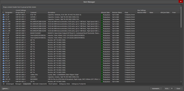 Managing Items with the Item Manager   Altium Designer 20 0