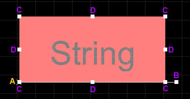 A selected String (invertedand using an inverted rectangle)