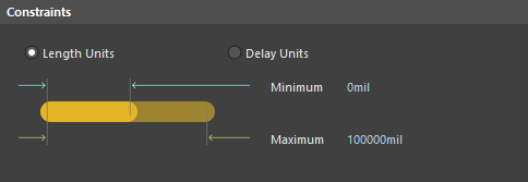 Default constraints for the Length rule.