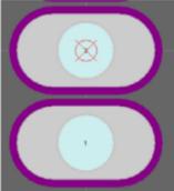 Контактные площадки с отображенной паяльной маской.