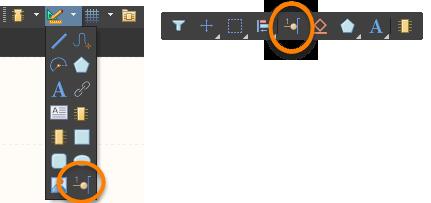 Кнопка Place Pin в выпадающем списке панели инструментов Utilities (слева) и в панели инструментов Active Bar (справа)