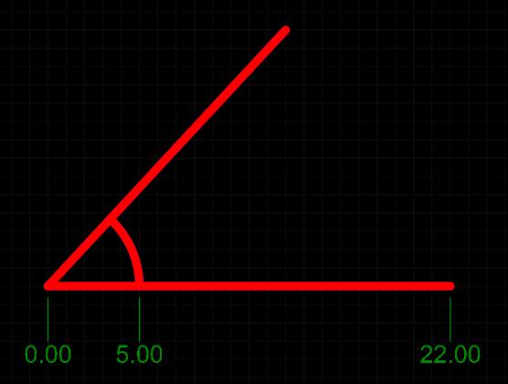 A placed Ordinate Dimension