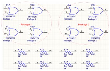 Пример упакованных компонентов с включенной опцией Strictly.