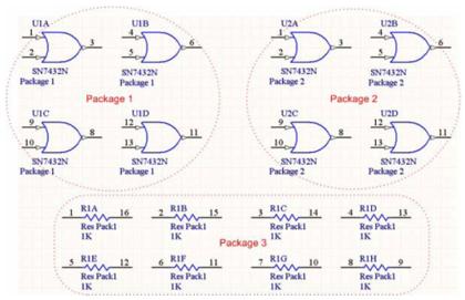 Пример упакованных компонентов с отключенной опцией Strictly.