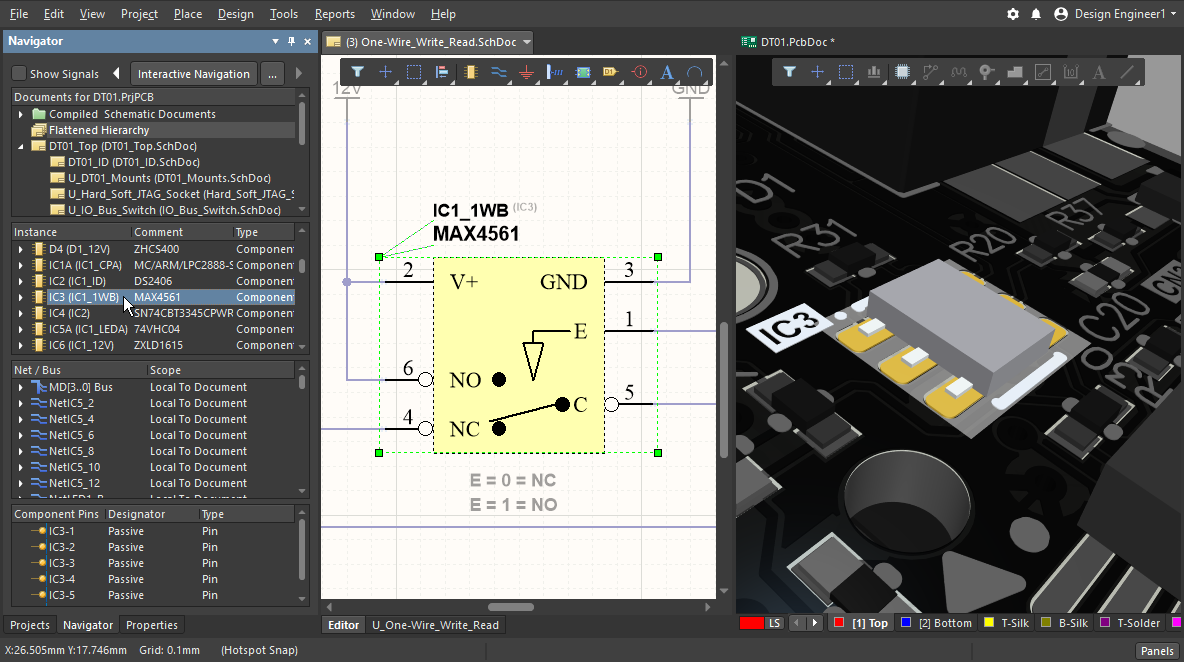 Working Between the Schematic and the Board | Altium ... on