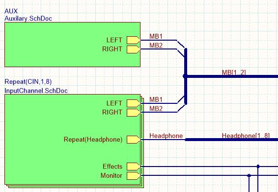 Изображение, показывающее различные способы подключения цепей к различным частям схемы