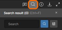Область Search интерфейса Web Viewer.
