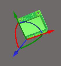 Инструмент для управления объектом Object Gizmo появляется при выделении объекта