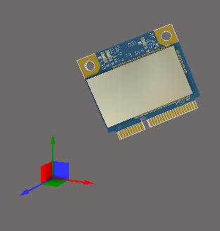 Инструмент для выполнения 3D-операций в рабочем пространстве всегда расположен в левом нижнем углу