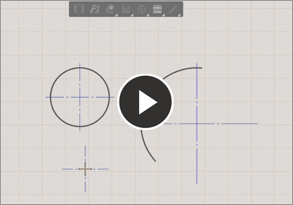 Demonstration video, center mark tool